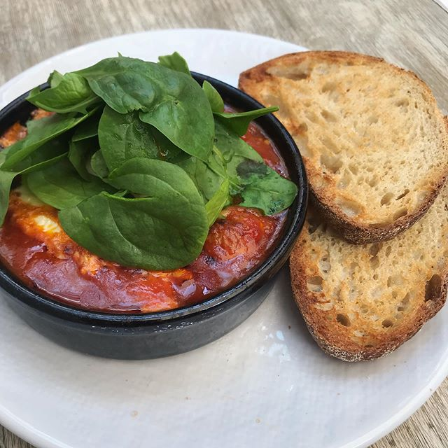 Baked Egg and Meatballs
