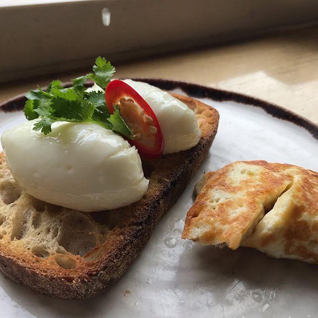 Poached Eggs & Halloumi
